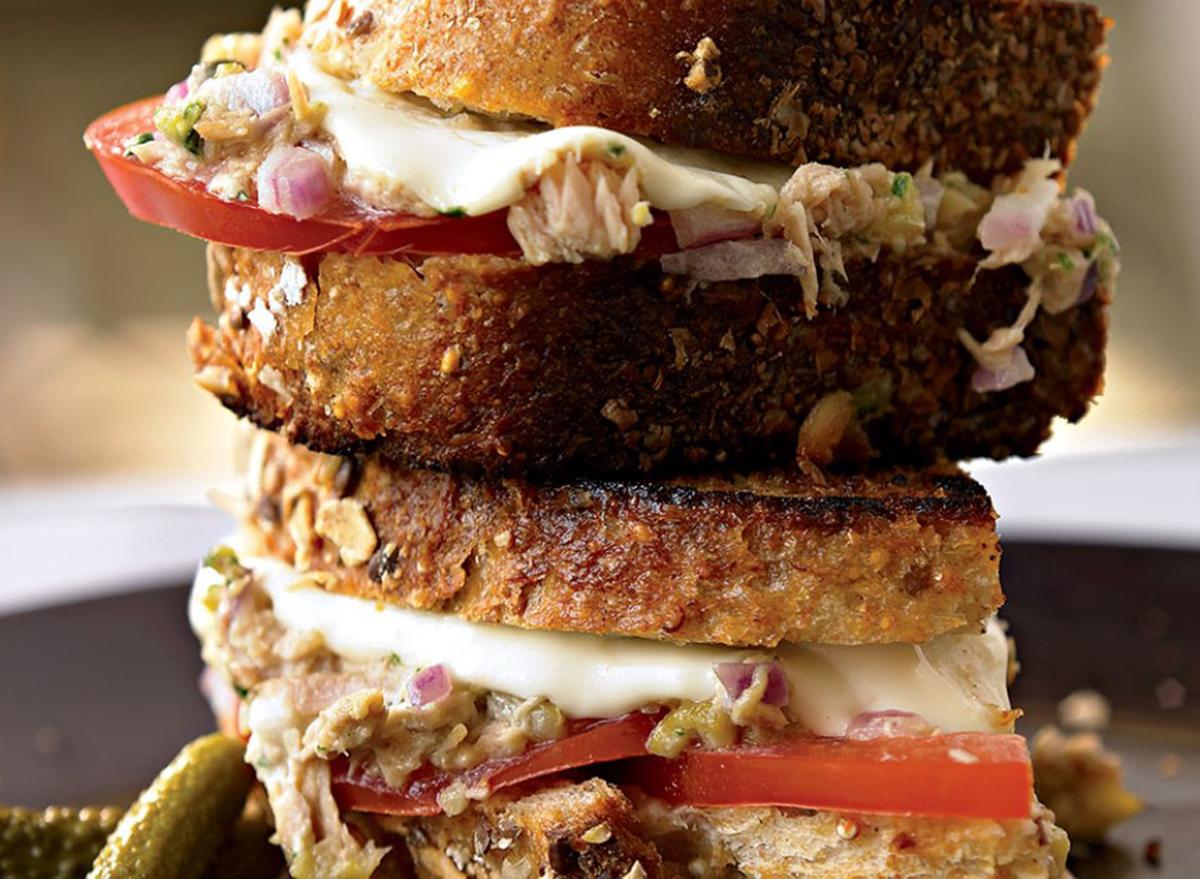 healthy italian tuna melt