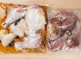 chicken in a wet brine and a dry brine