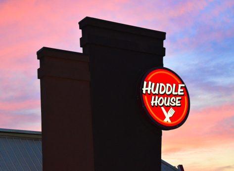 huddle house sign