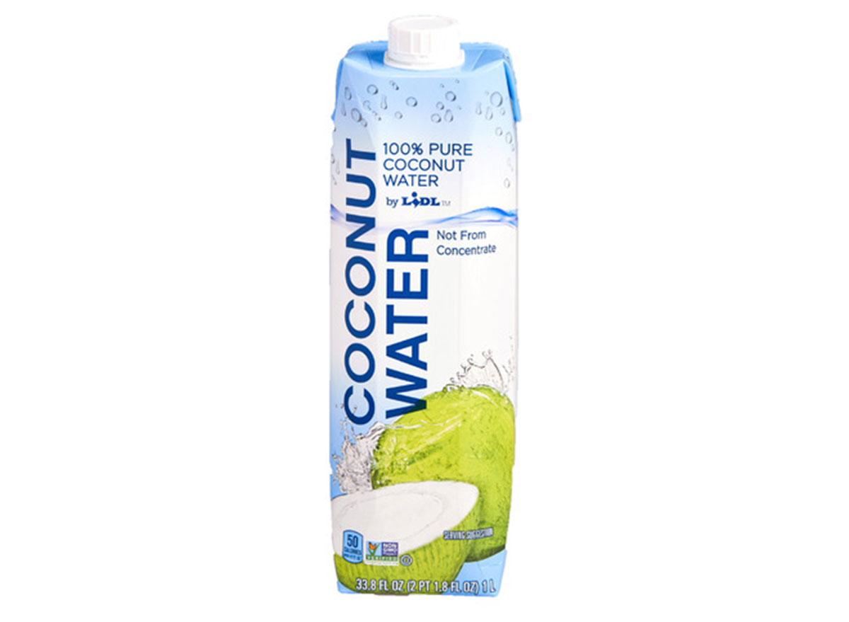 lidl coconut water
