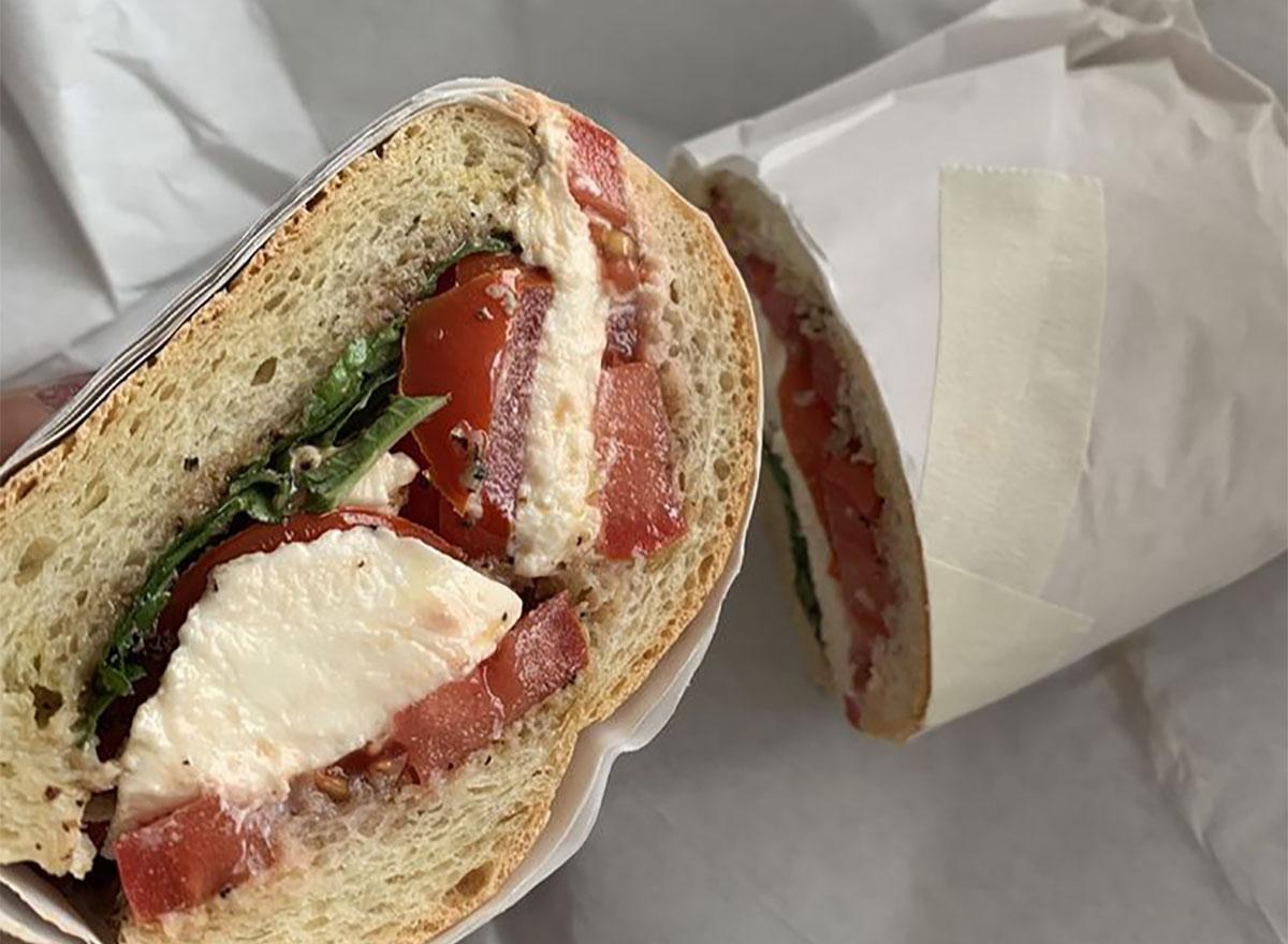 limoncello caprese sandwich