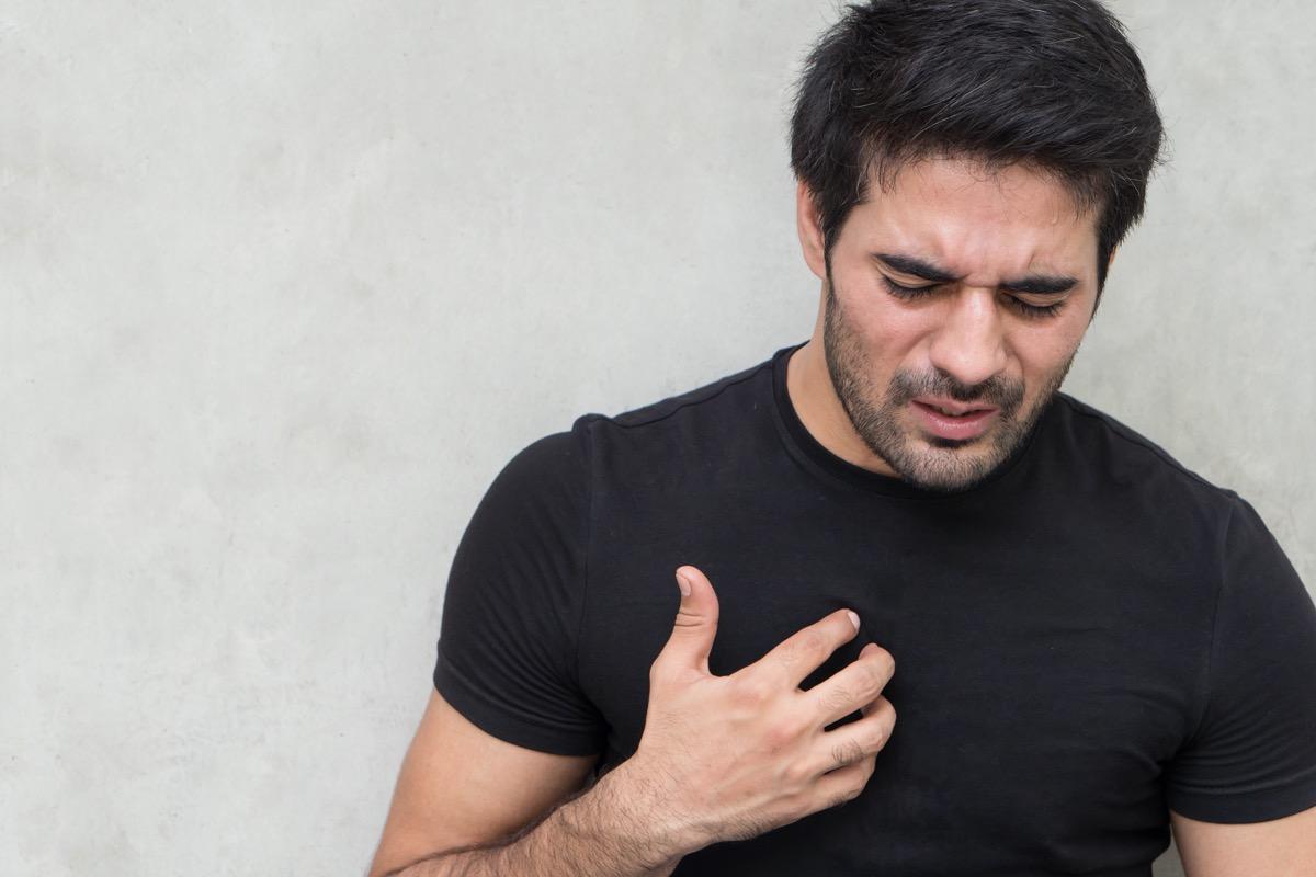 sick man with acid reflux