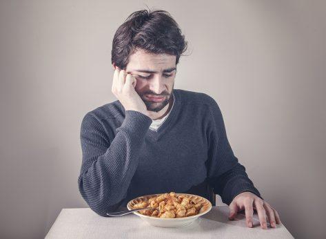 man not eating