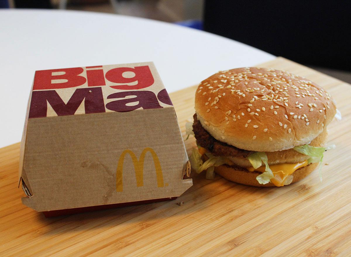 mcdonalds big mac no ketchup