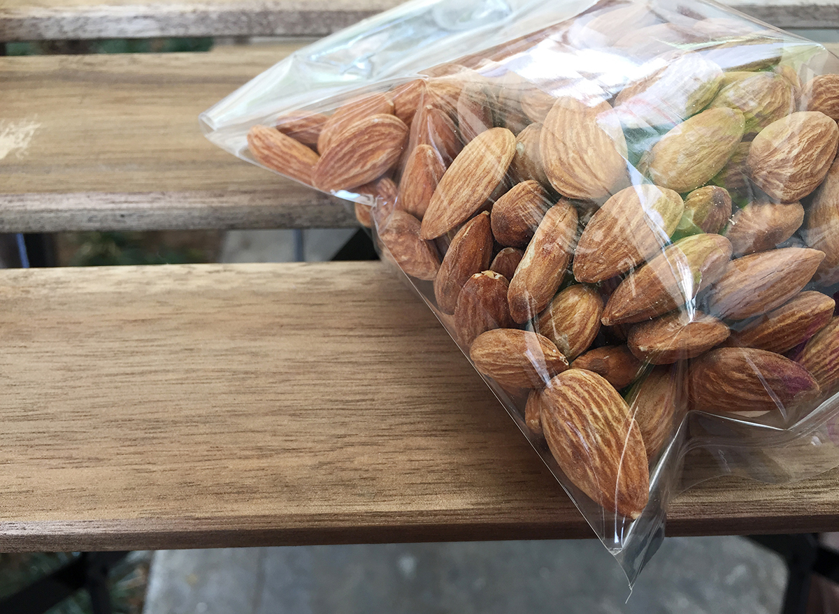 nuts in an air tight bag