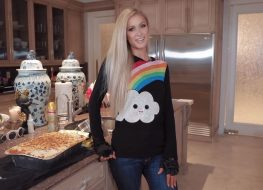 screenshot of paris hilton in her new cooking show cooking with paris
