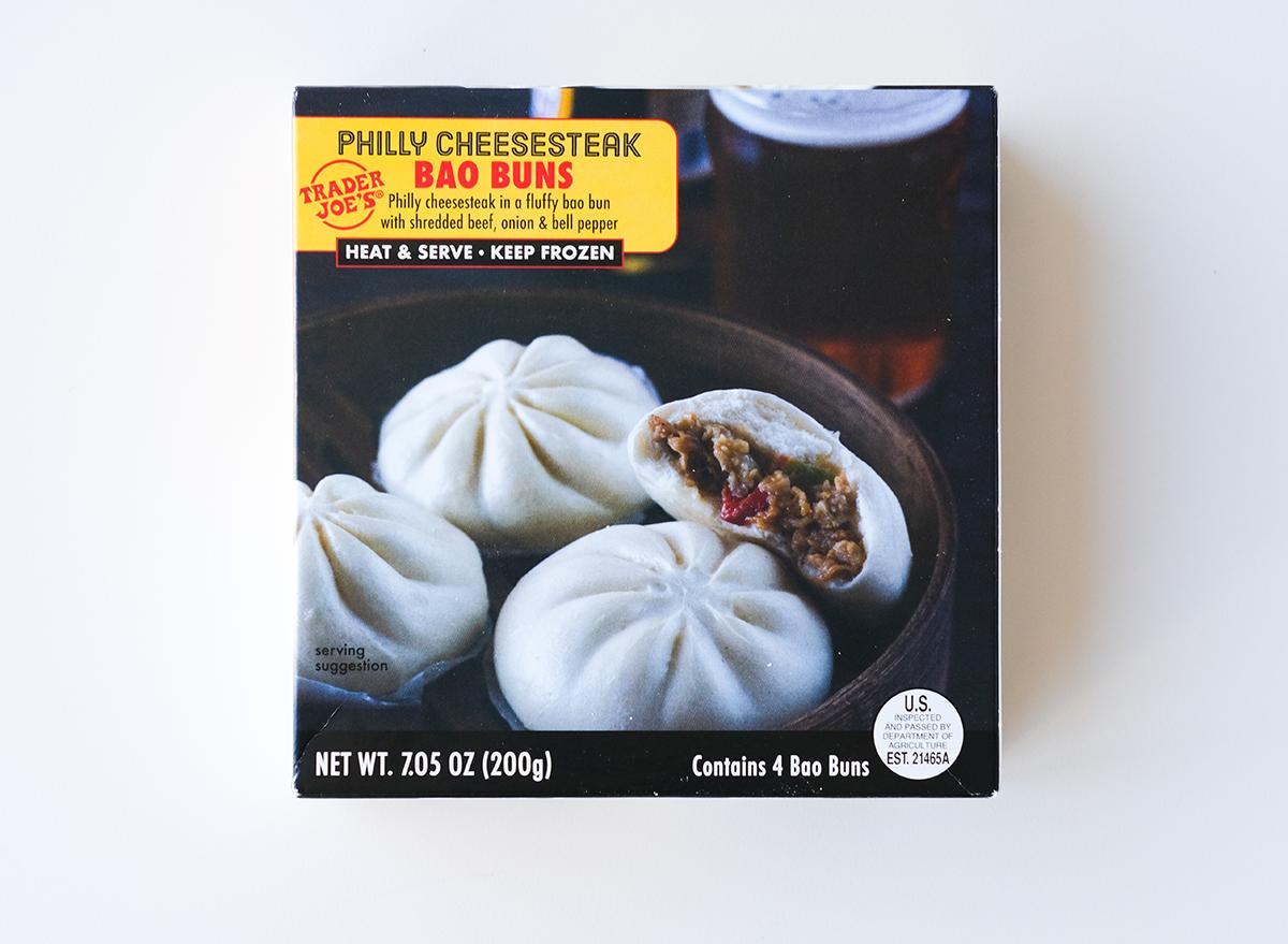 philly cheesesteak bao buns from trader joe's