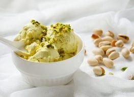 Pistachio banana ice cream