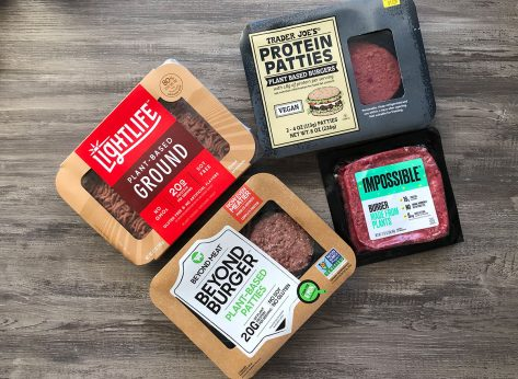 packaged beyond lightlife impossible and trader joes plant-based burgers