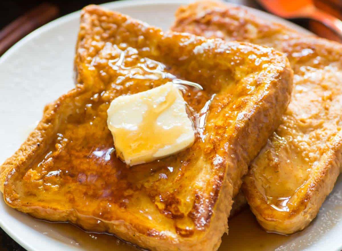healthy breakfast for kids pumpkin french toast