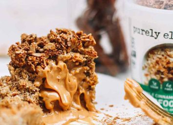 APPLE CINNAMON PECAN SUPERFOOD OAT CUPS WITH GRANOLA TOPPER purely elizabeth