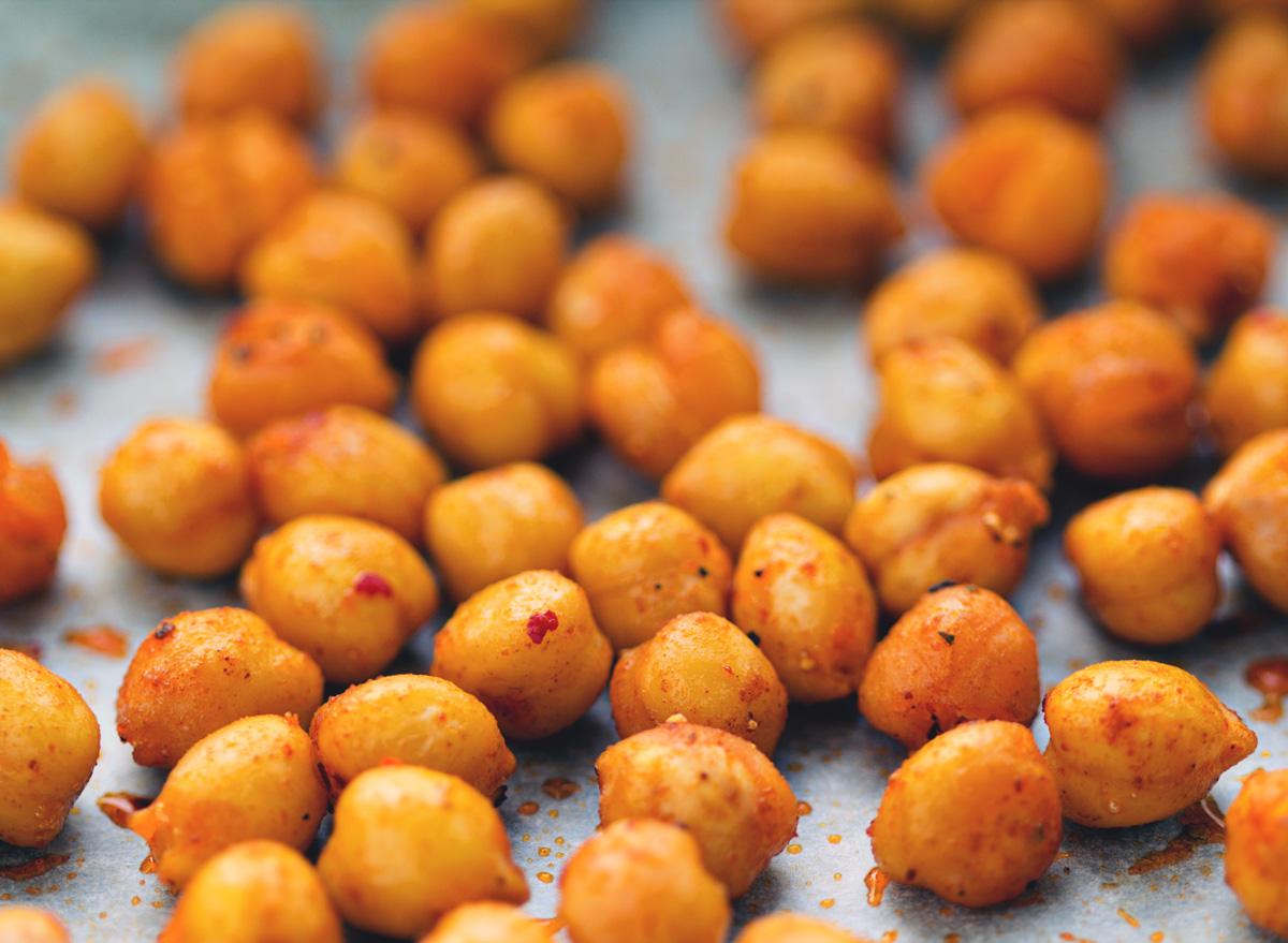 Roasted spiced sweet chickpeas