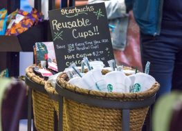 starbucks reusable plastic cups are an effort in sustainability