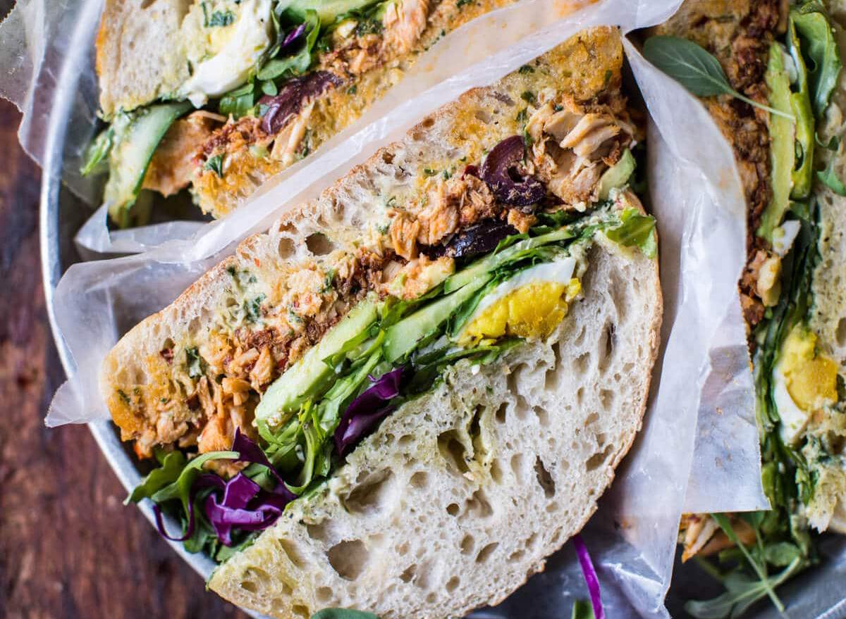 tuscan tuna salad sandwich
