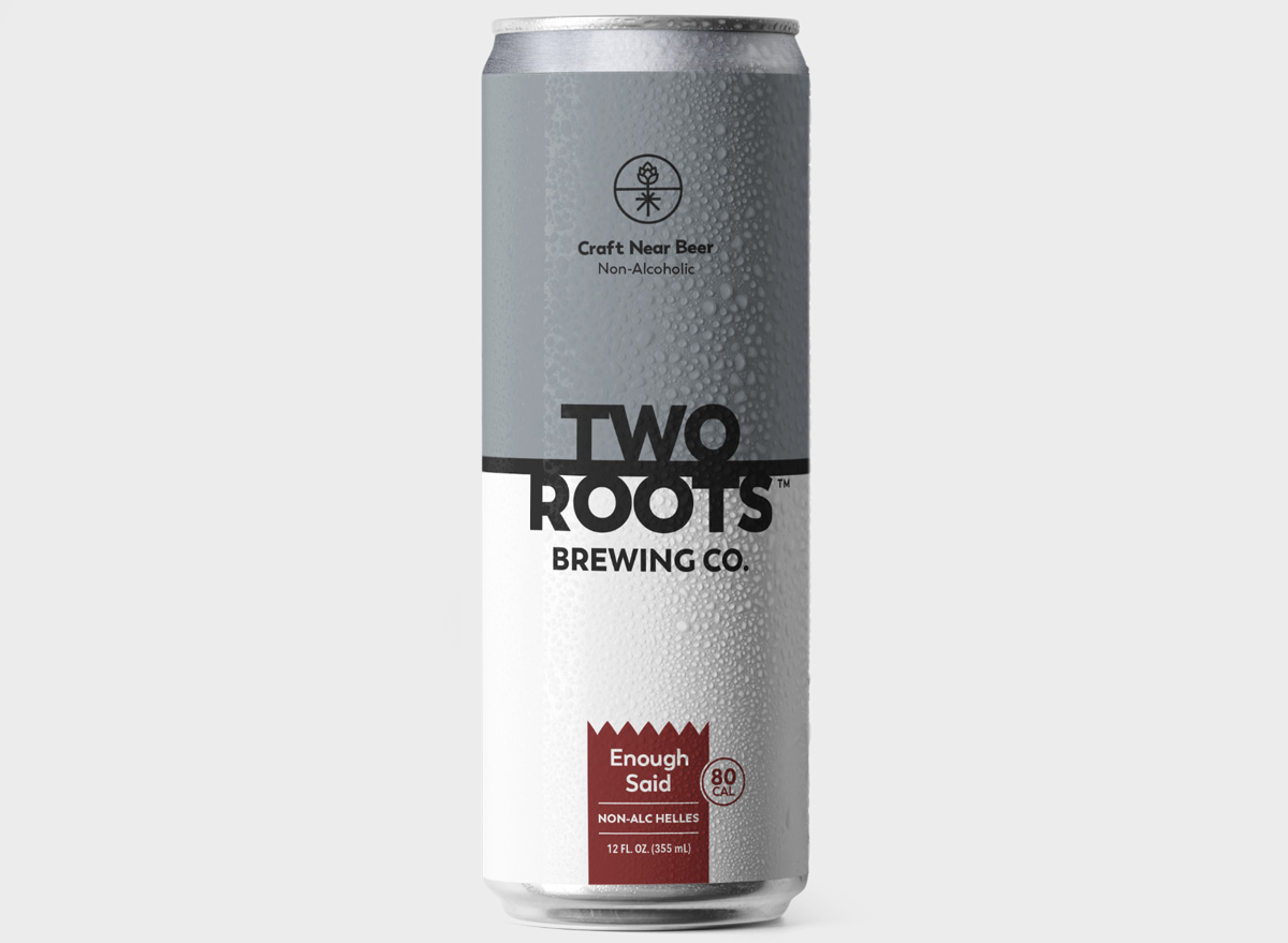 two roots brewing co enough said non alc helles