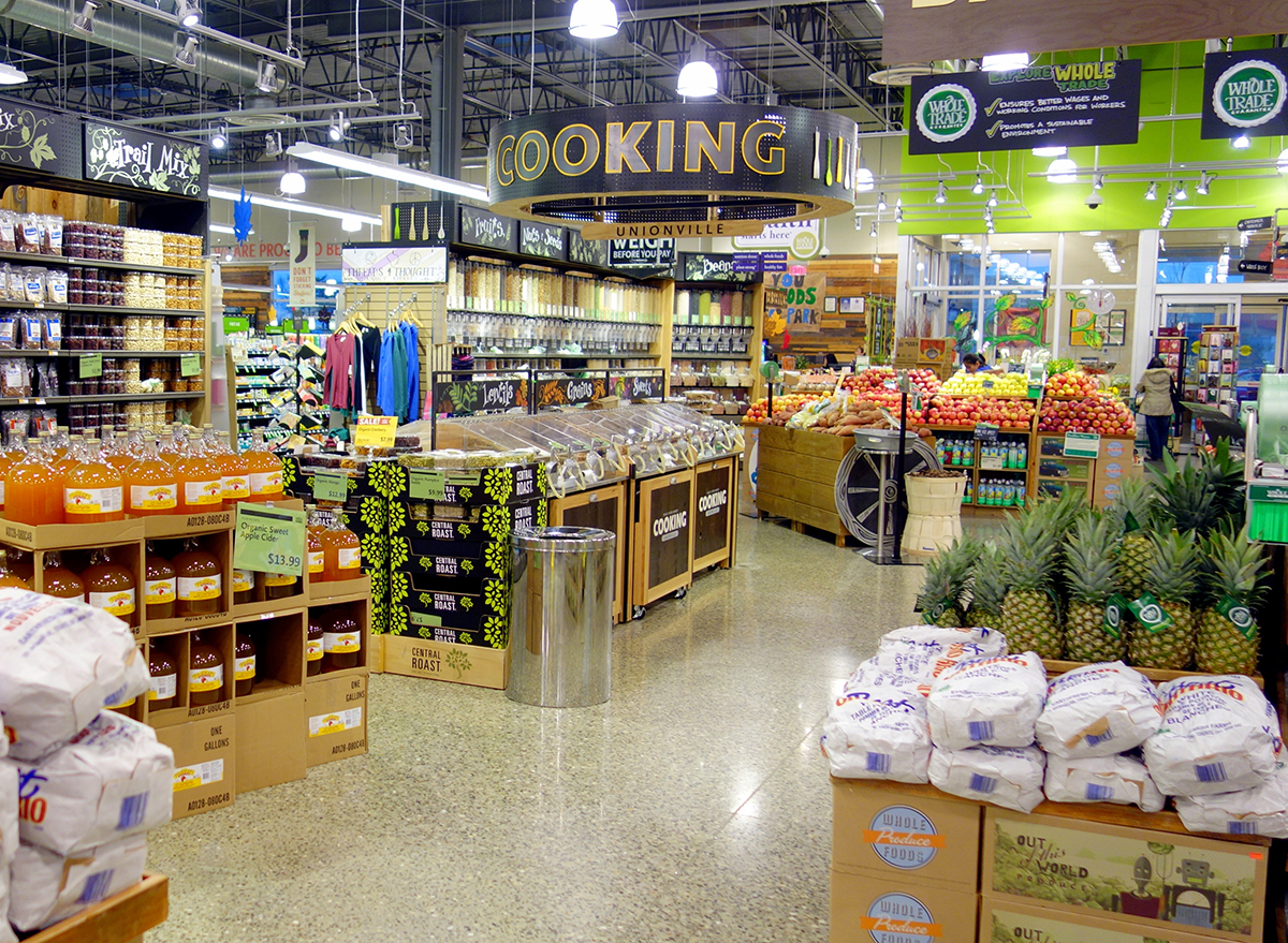 inside of whole foods store