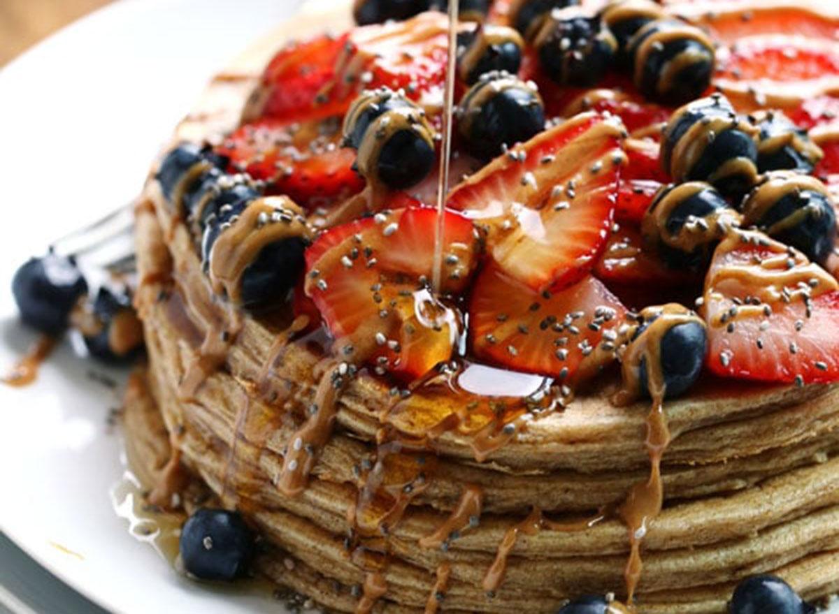 healthy breakfast for kids whole grain power pancakes