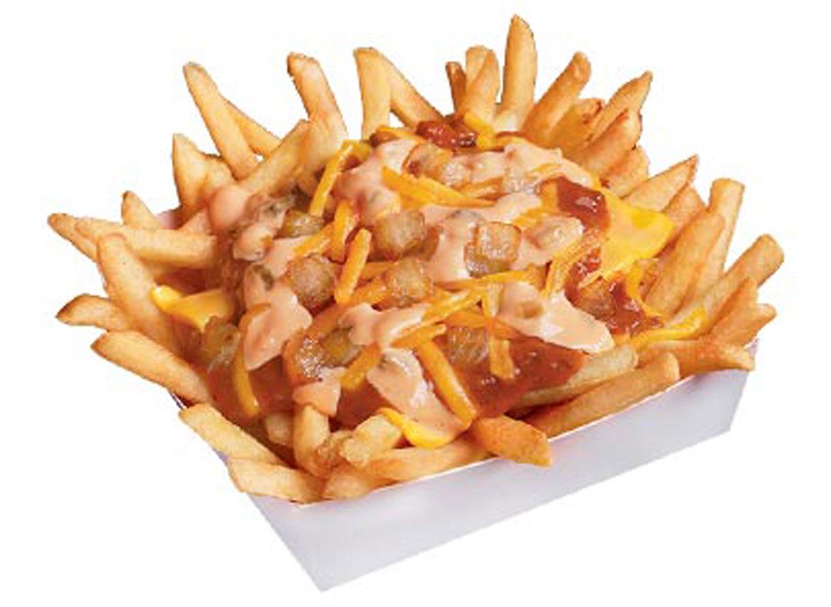wienerschnitzel thousand island chili cheese fries