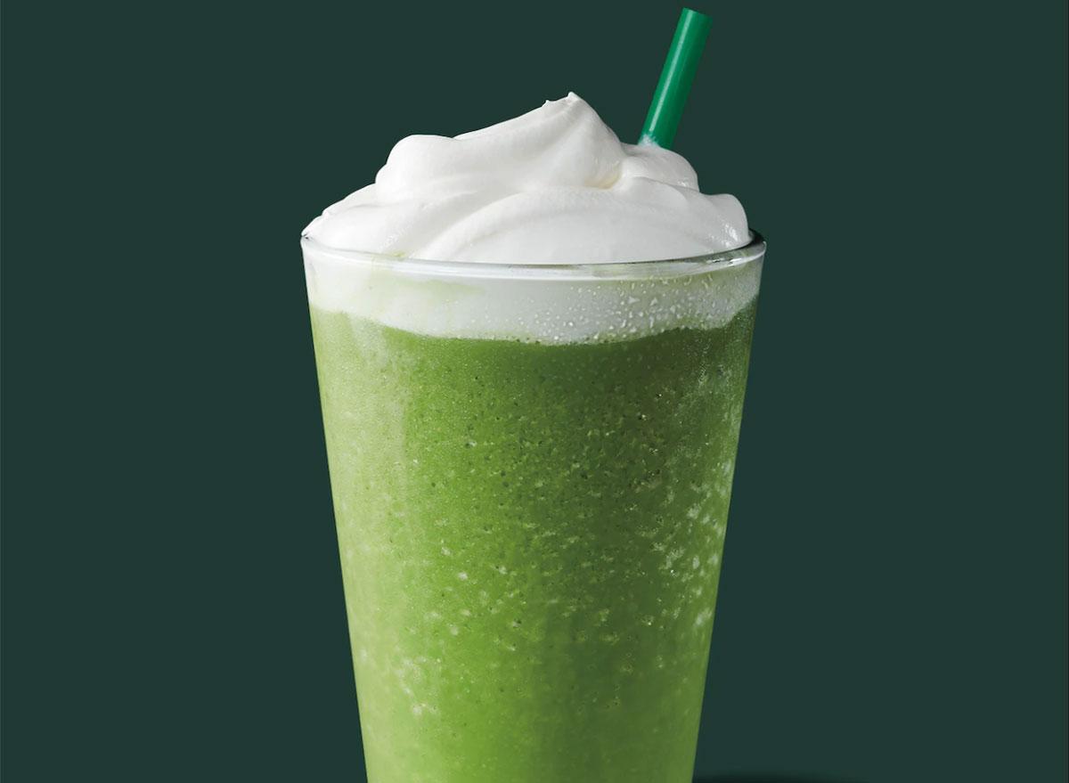 matcha green tea creme frappuccino
