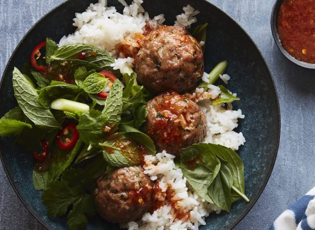 asian pork meatballs