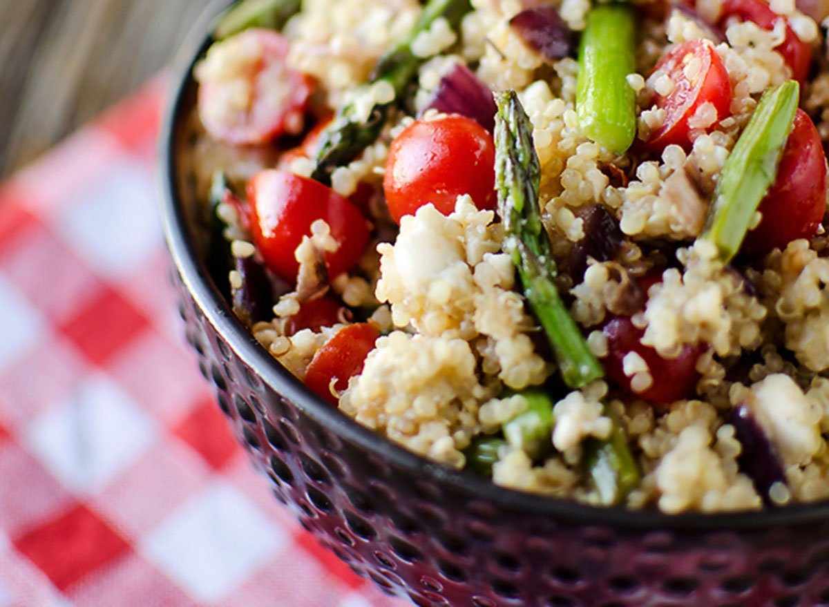 asparagus quinoa feta salad