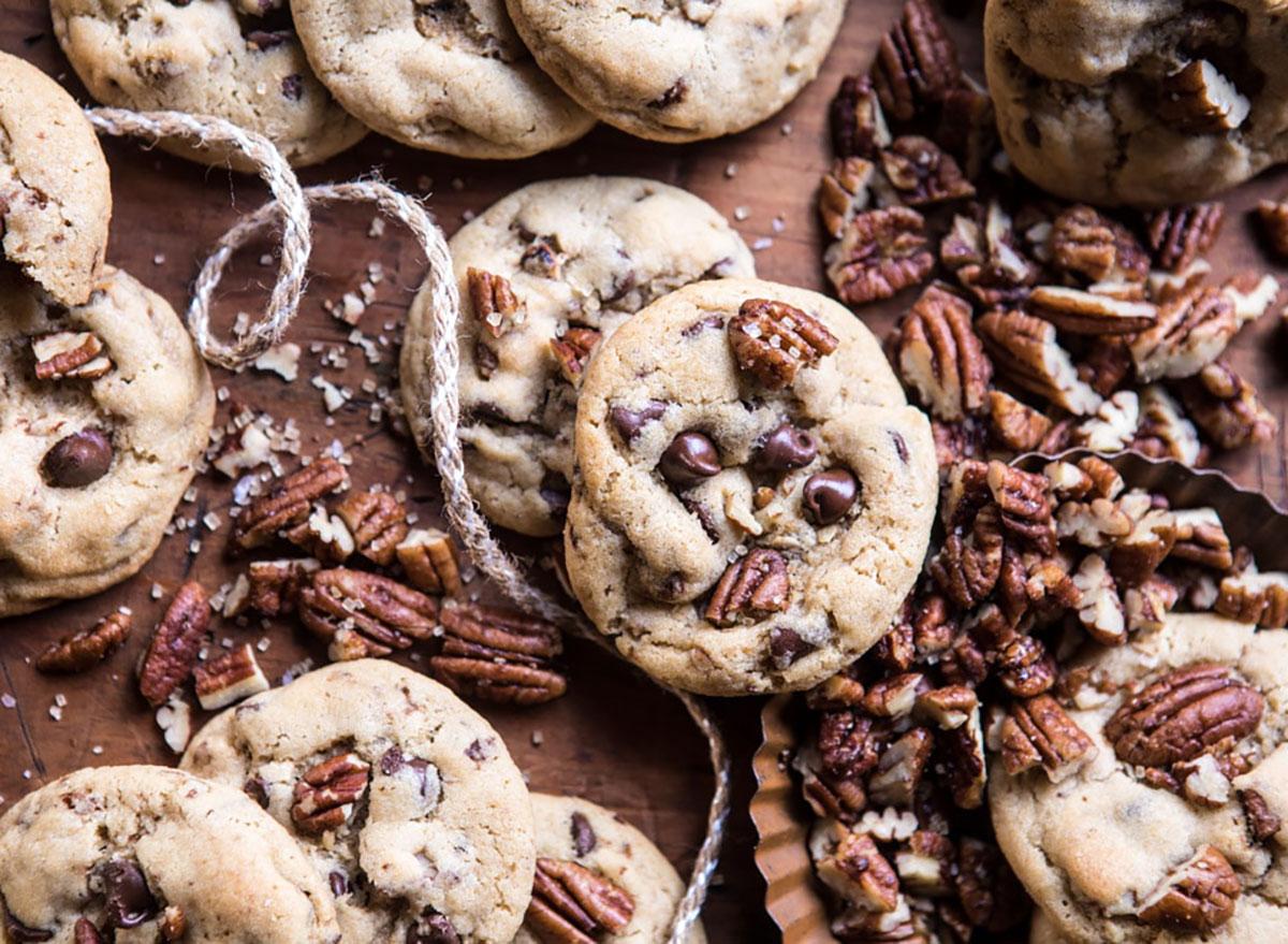 brown butter chocolate chip pecan cookies