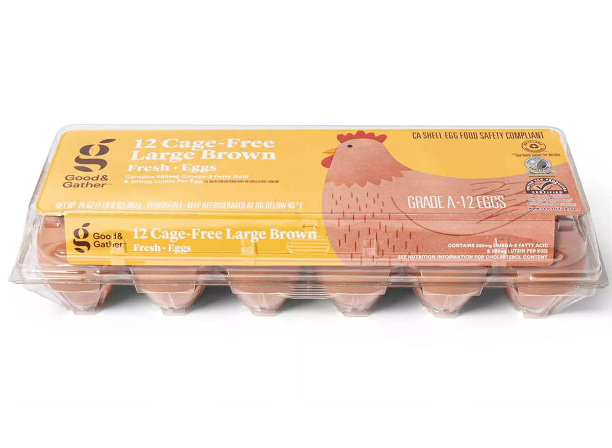 good and gather cage free brown eggs