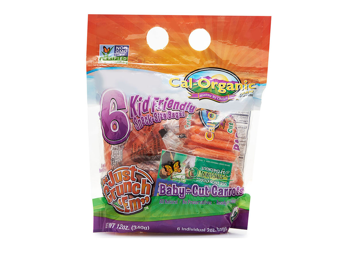 cal organic baby carrots in snack bags
