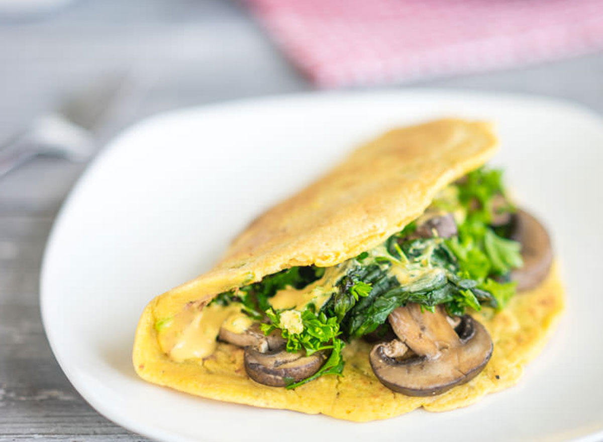 cheesy chickpea omelet
