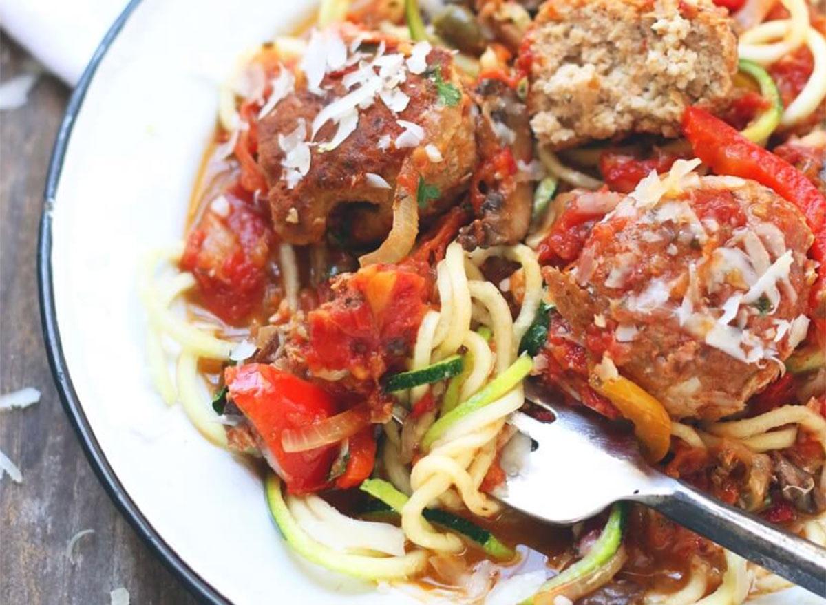 ground chicken recipes chicken cacciatore meatballs