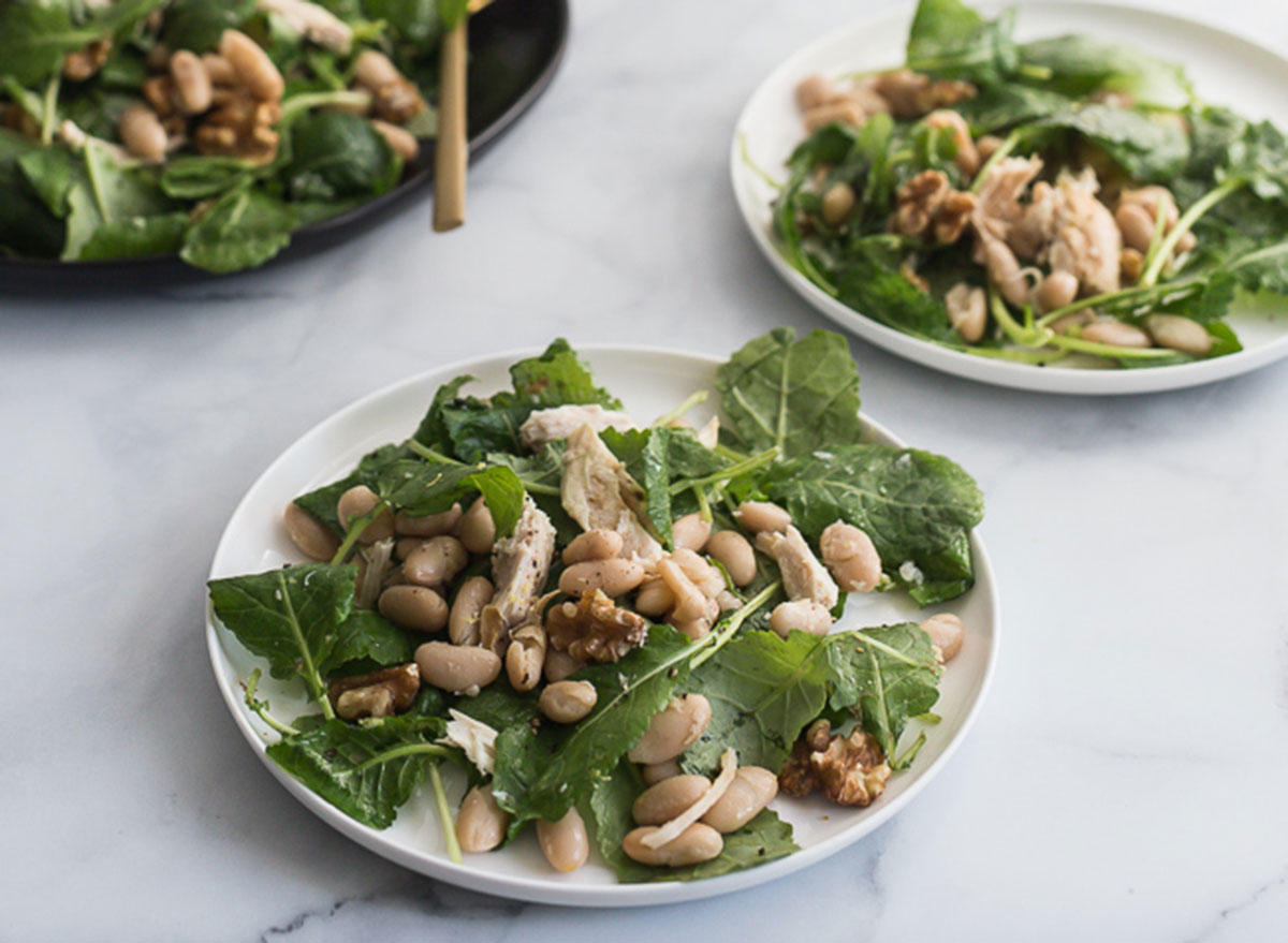 chicken kale and white bean salad