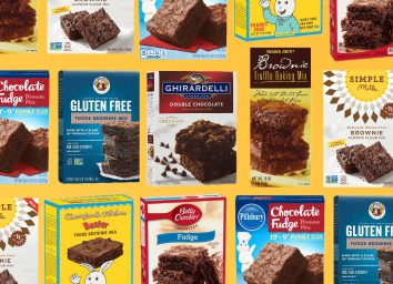 chocolate brownie mix photo collage