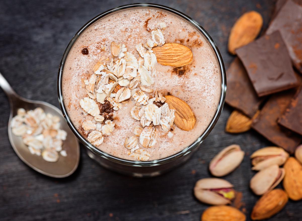 chocolate almond nut smoothie