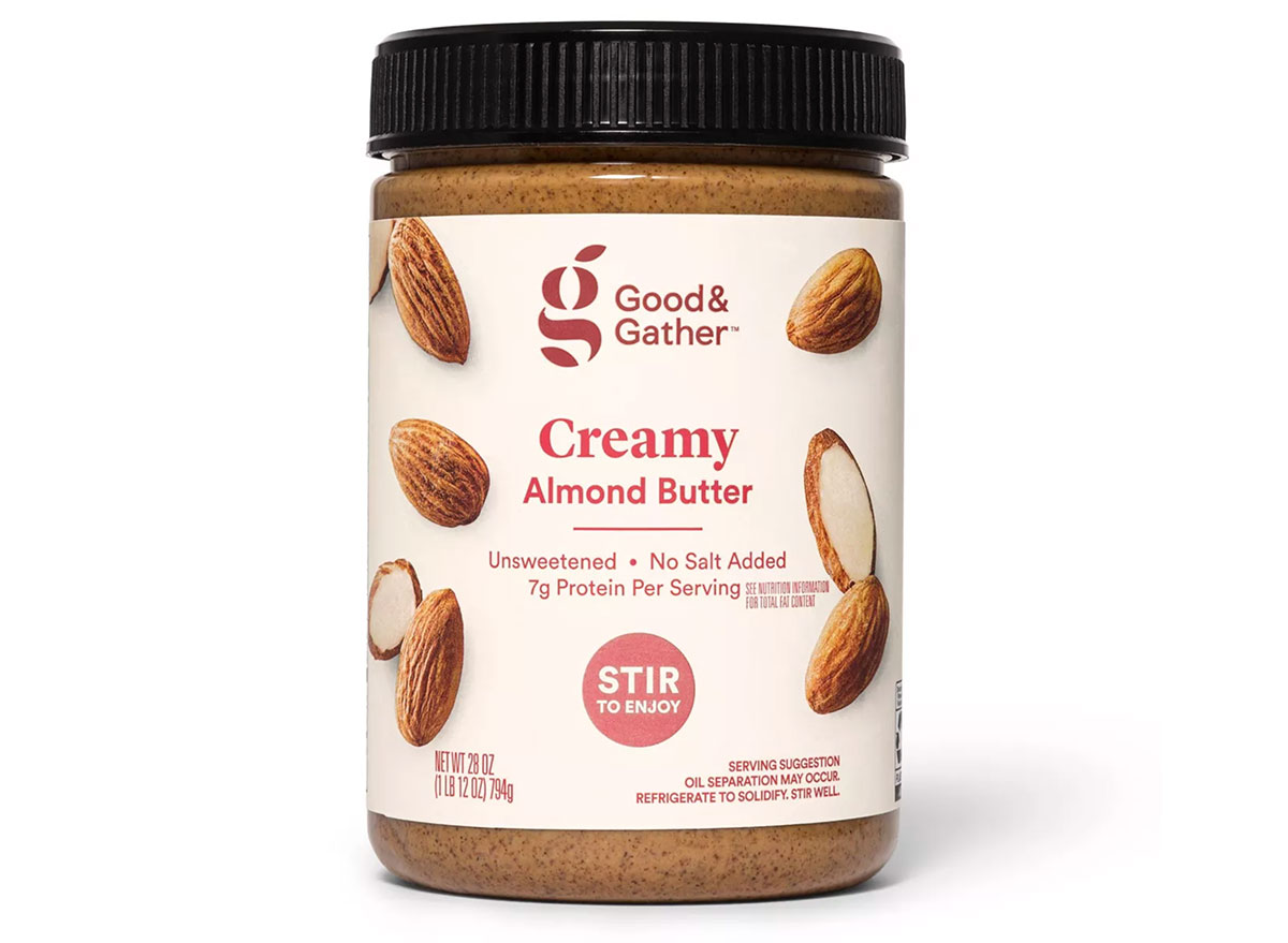 good and gather creamy almond butter