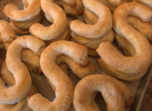 Dutch letter pastries