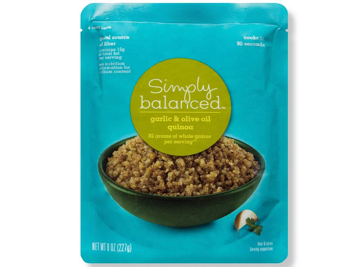 simply balanced garlic and oil quinoa