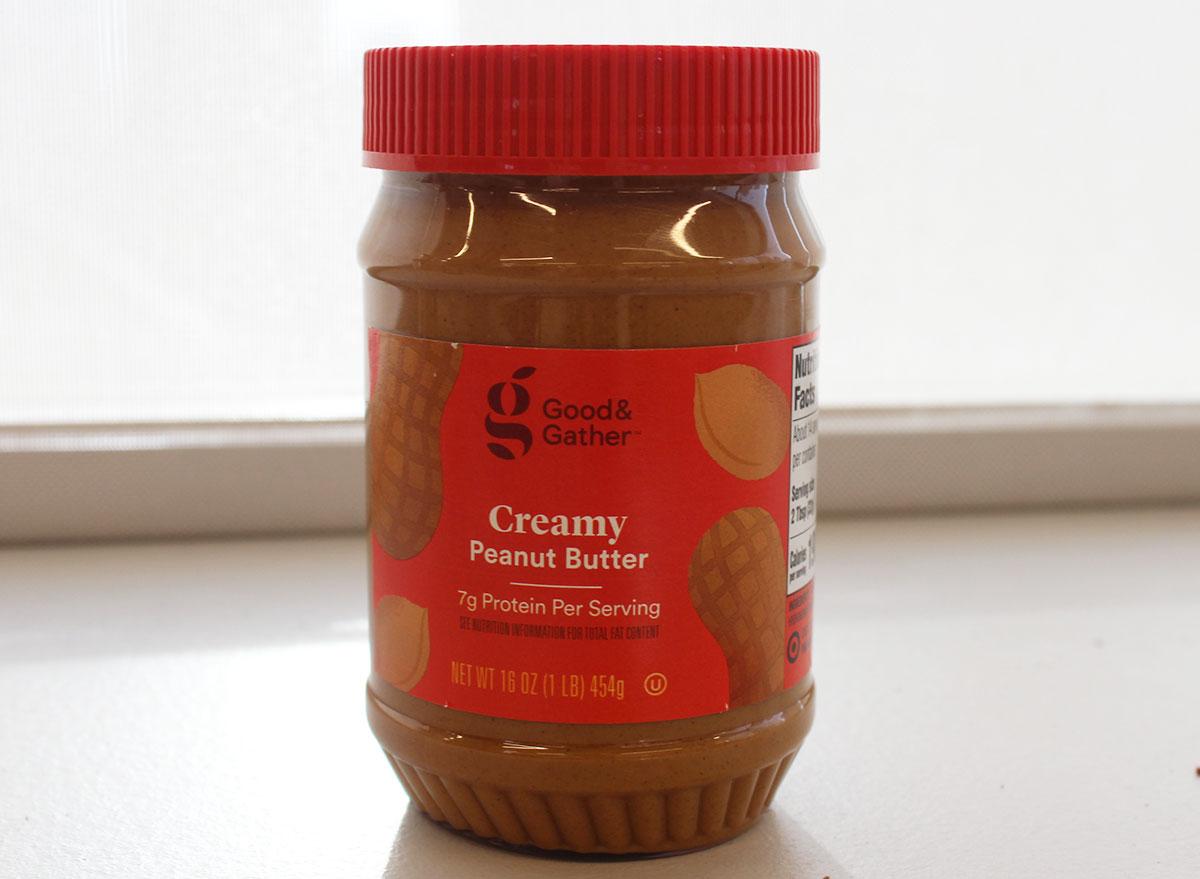 good and gather creamy peanut butter jar