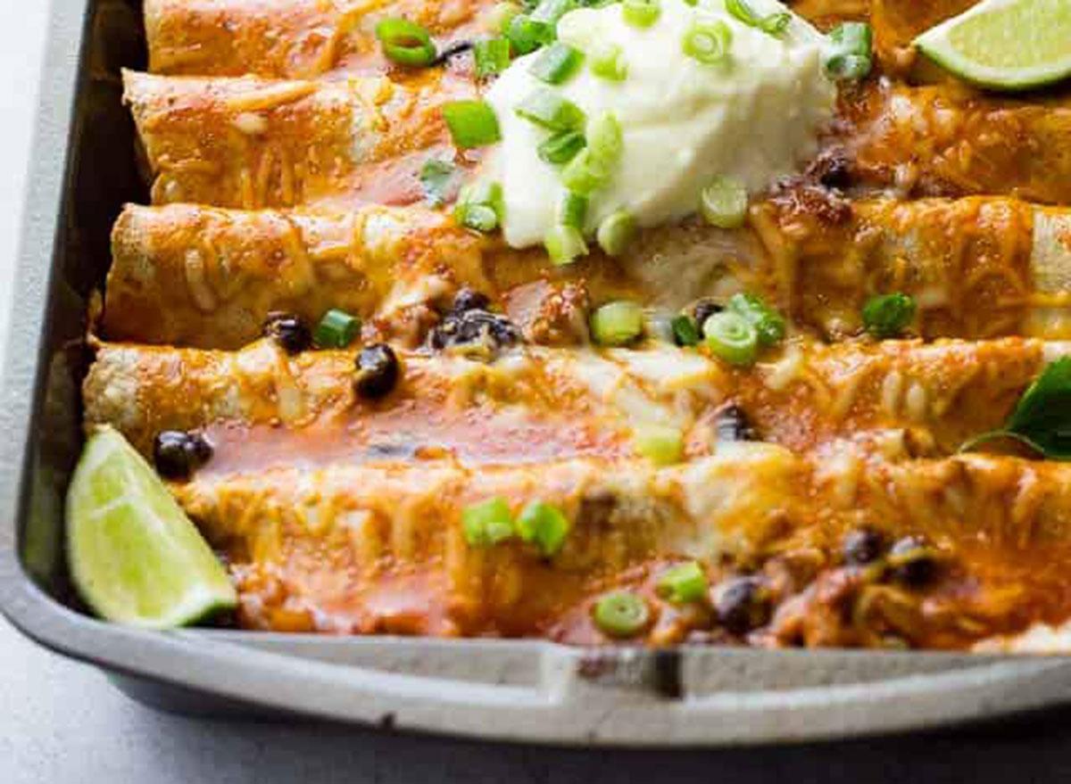 ground turkey enchiladas
