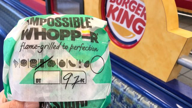 Impossible whopper wrapped