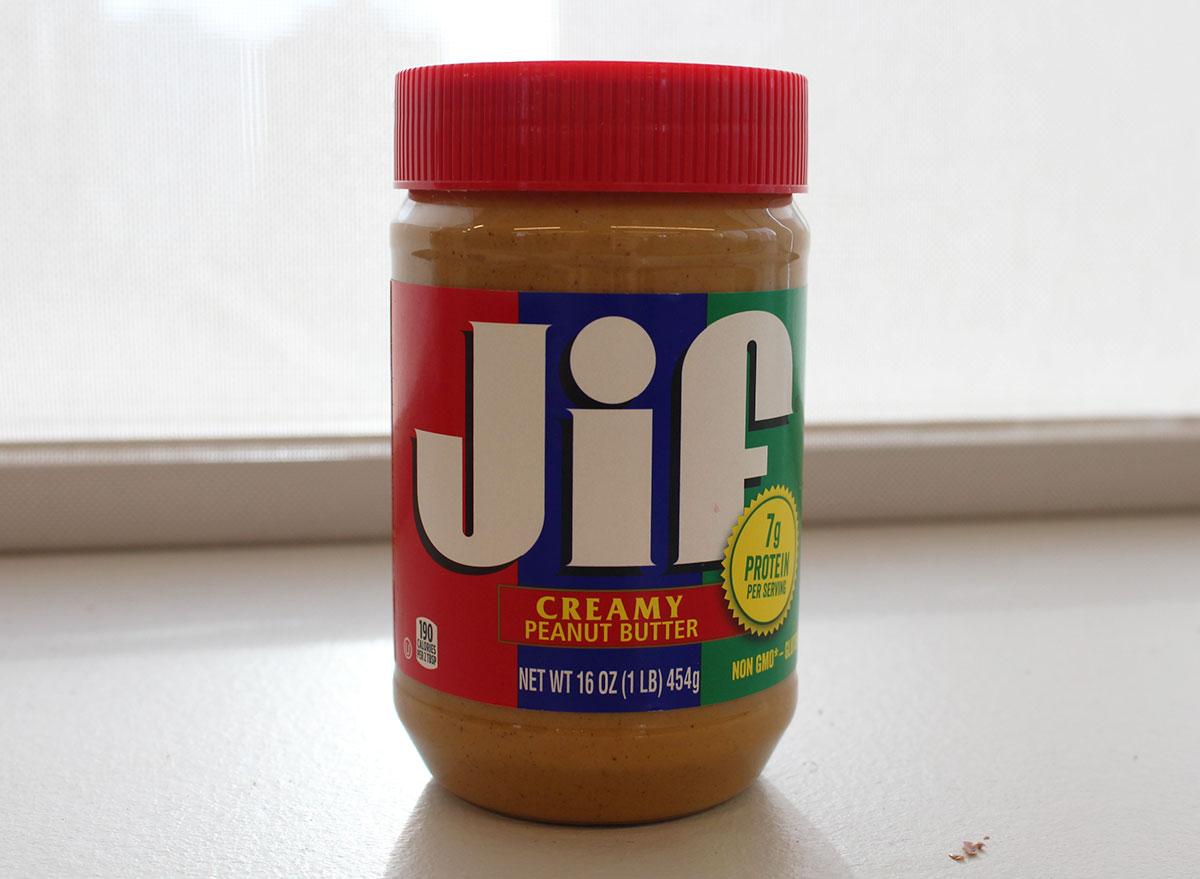 jif creamy peanut butter jar