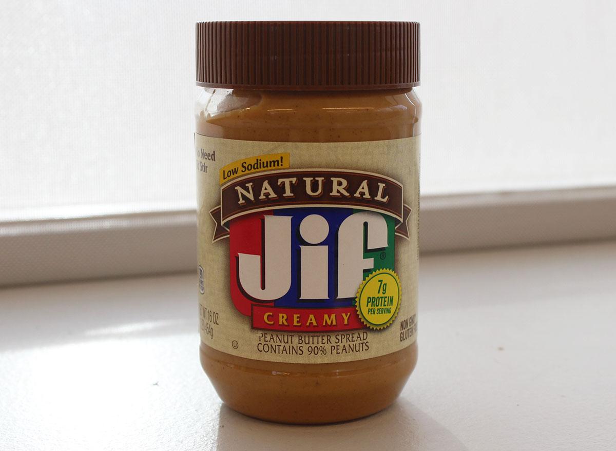 jif natural peanut butter jar