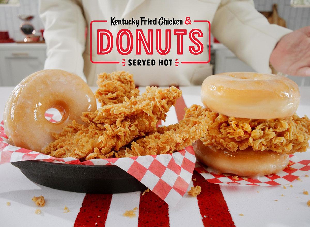 kfc donut sandwich