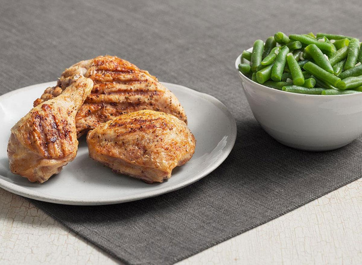 kfc grilled chicken green beans