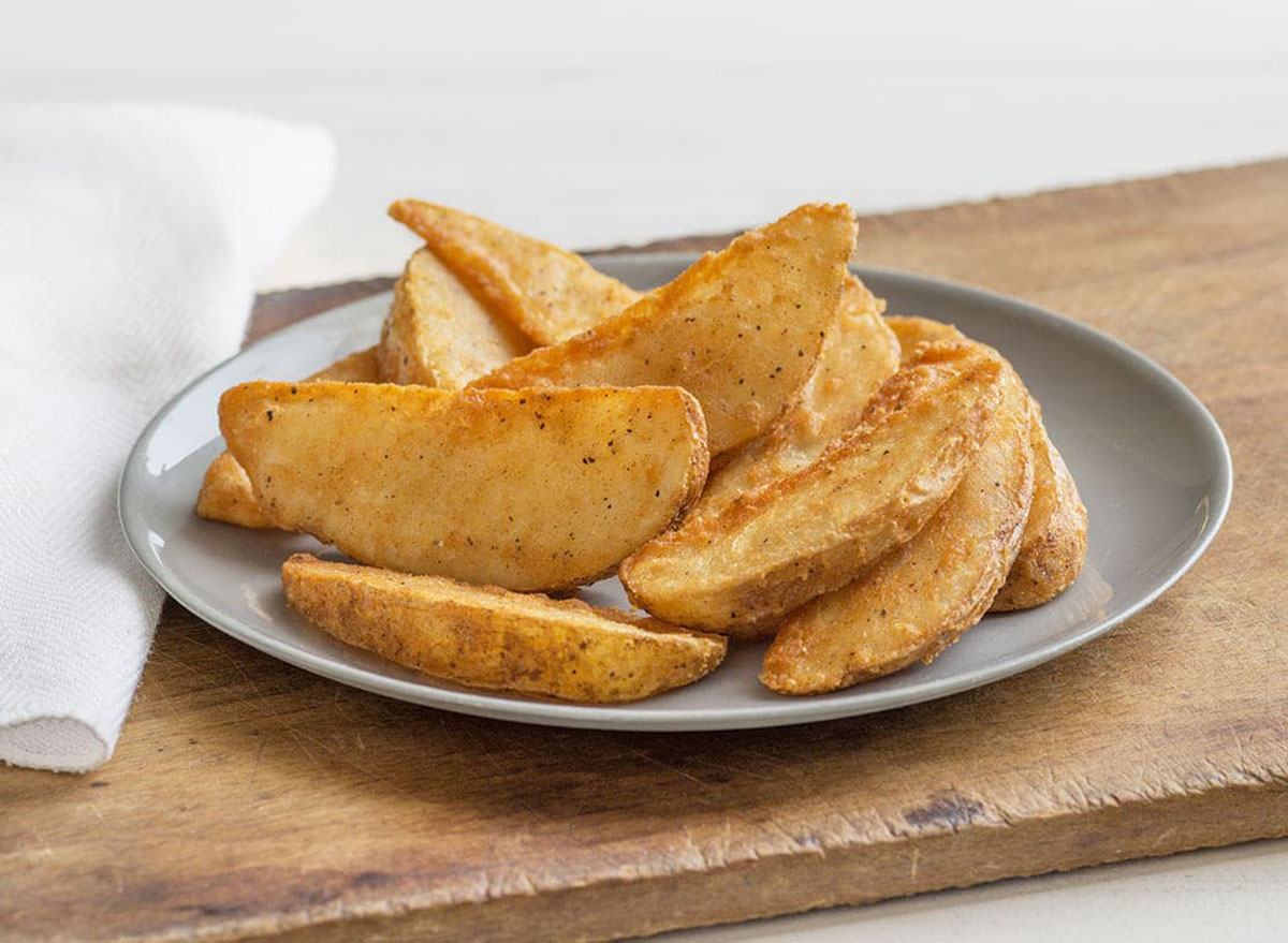 potato wedges from kfc on plate