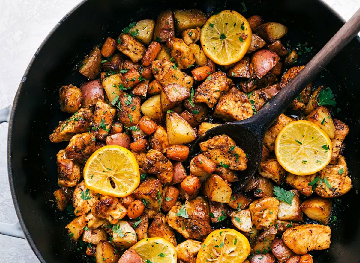 lemon chicken and potatoes