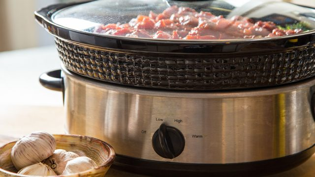 meat in slow cooker