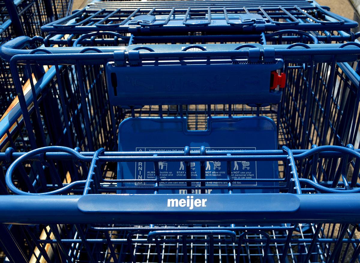 meijer grocery cart