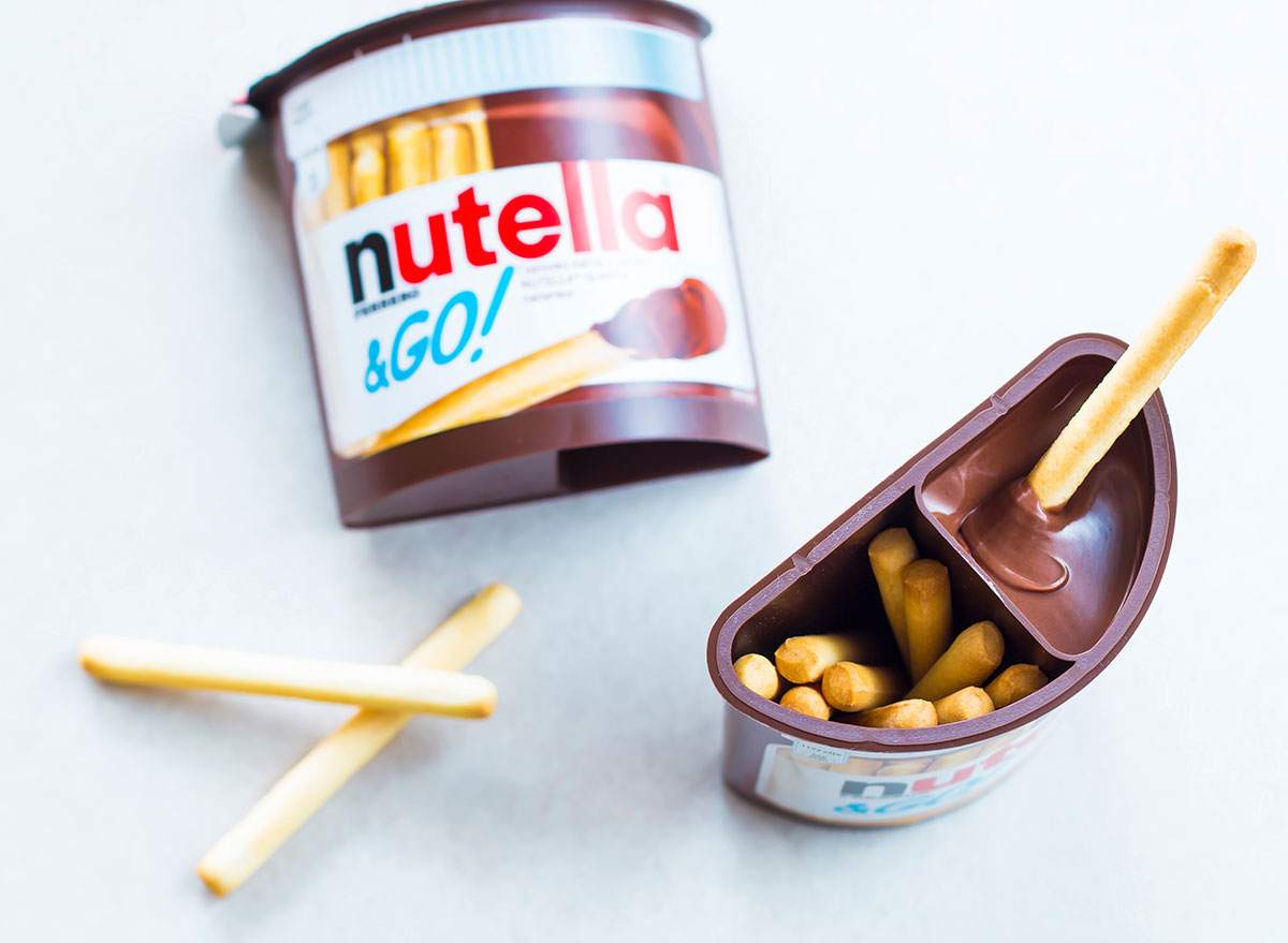 nutella and go container
