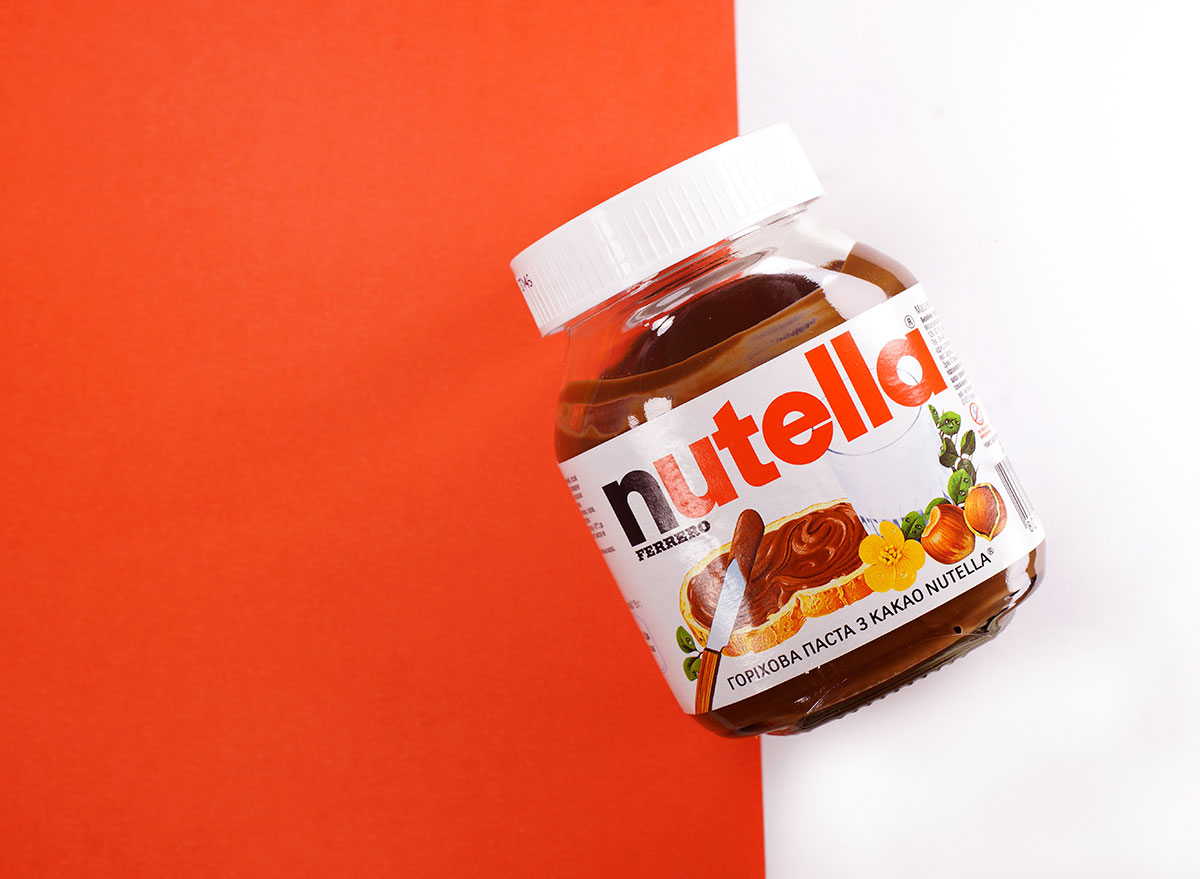 nutella red background