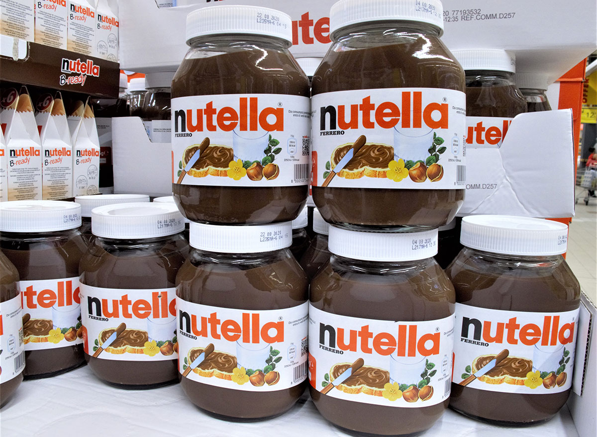 nutella at the supermarket